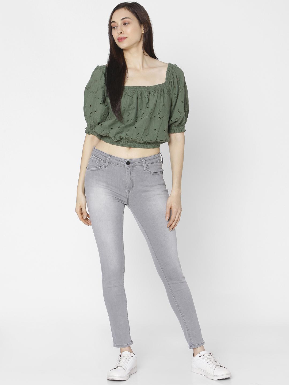 Spykar | Spykar Green Cotton Women Shirt