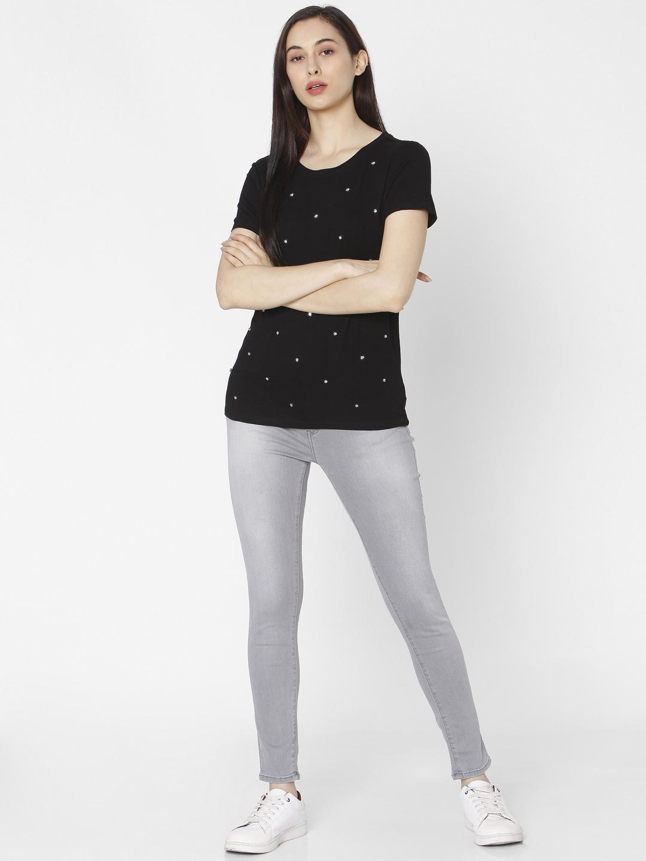 Spykar | Spykar Grey Cotton Women Jeans (Adora)