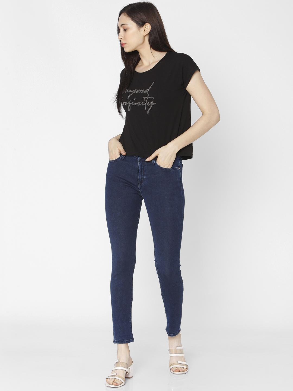 Spykar | Spykar Blue Cotton Women Jeans (Adora)