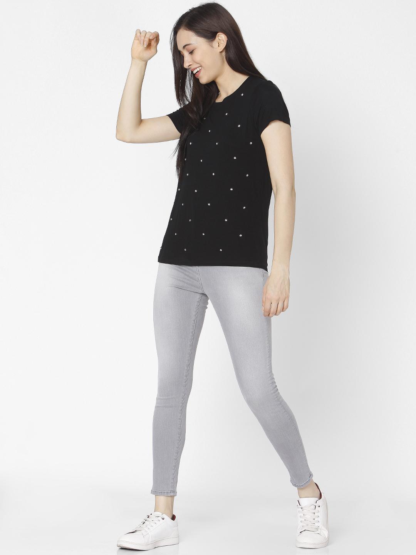 Spykar | Spykar Grey Cotton Women Jeans (Alexa)