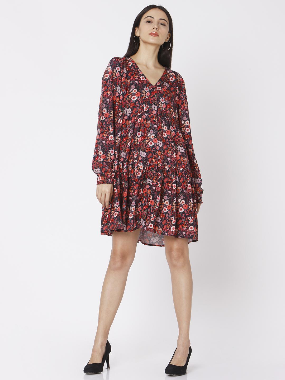 Spykar | Spykar Black Cotton Women Dresses