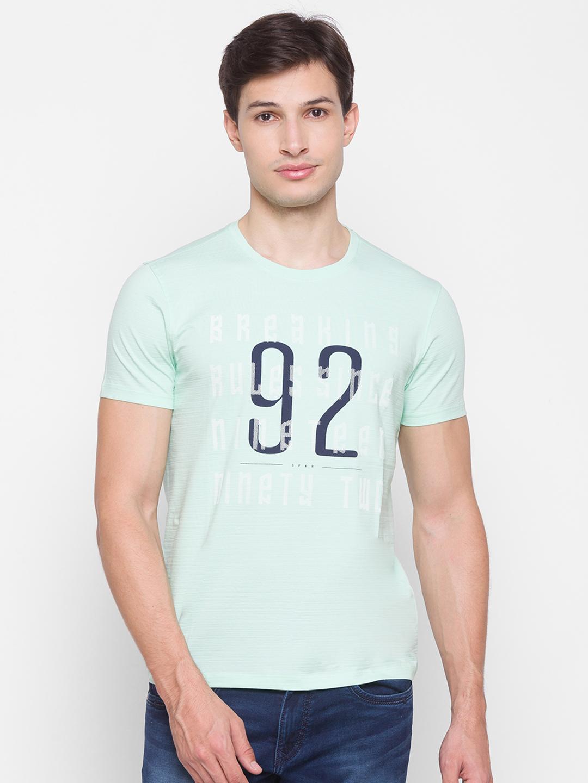 Spykar   Spykar Green Cotton Men T-Shirt