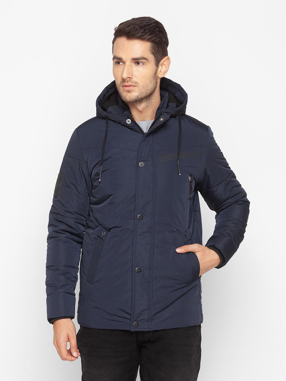 Spykar | Spykar Blue Polyester Men Jacket