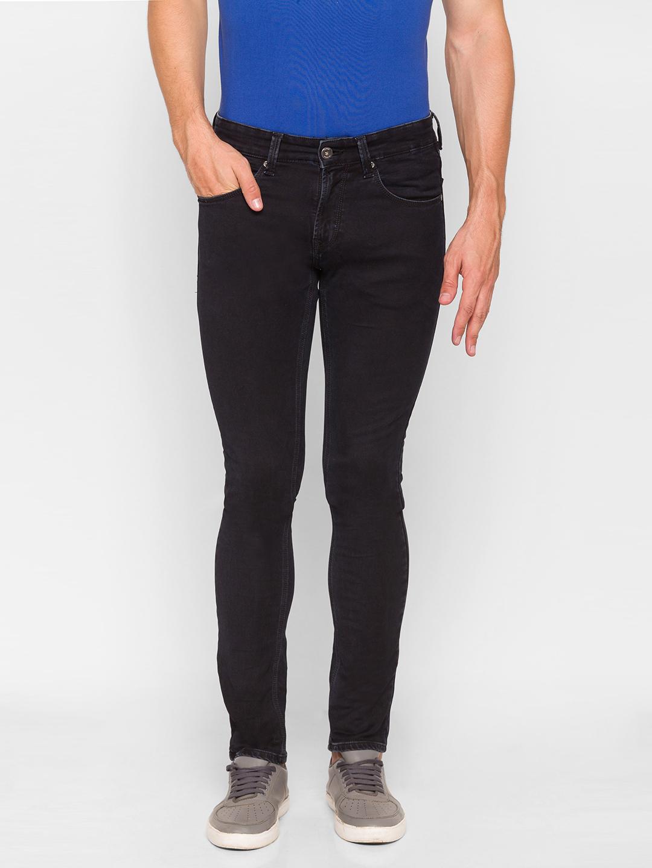 Spykar | Spykar Black Cotton Men Jeans (SKINNY)