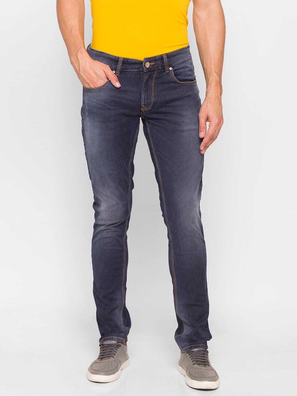 Spykar   Spykar Grey Cotton Men Jeans (SKINNY)