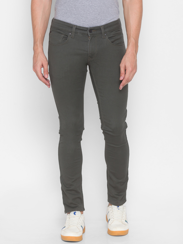 Spykar | Spykar Green Cotton Men Jeans (SKINNY)