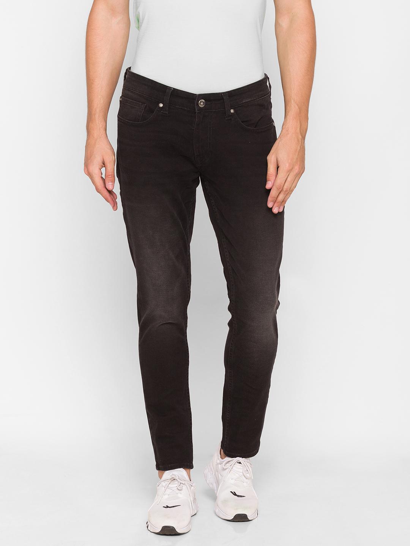 Spykar | Spykar Black Cotton Men Jeans (SUPER SKINNY)