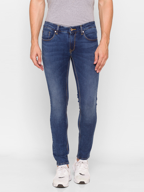 Spykar | Spykar Blue Cotton Men Jeans (SUPER SKINNY)