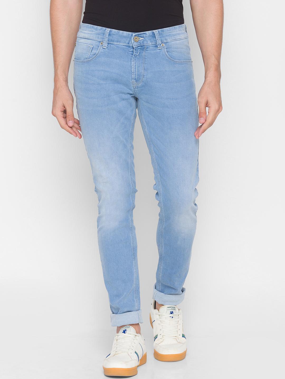 Spykar | Spykar Blue Cotton Men Jeans (SKINNY)