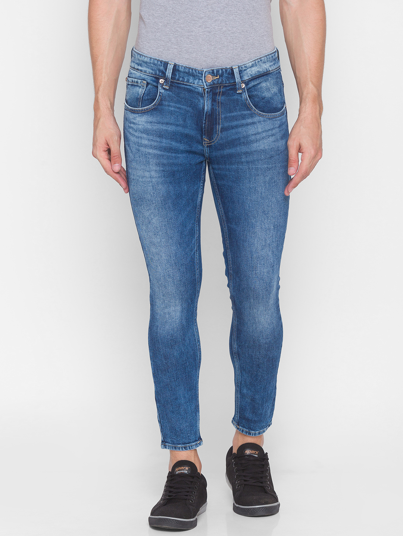 Spykar | Spykar Blue Cotton Men Jeans (KANO)