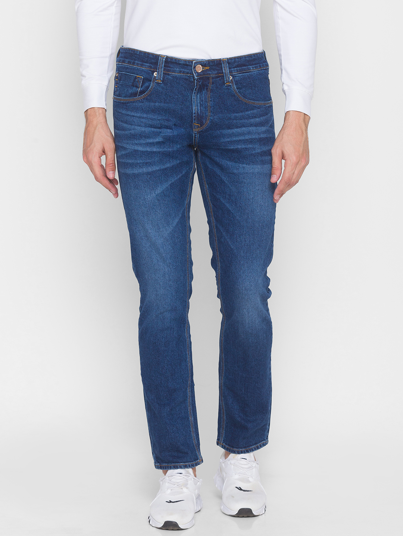 Spykar | Spykar Blue Cotton Men Jeans (RICARDO)