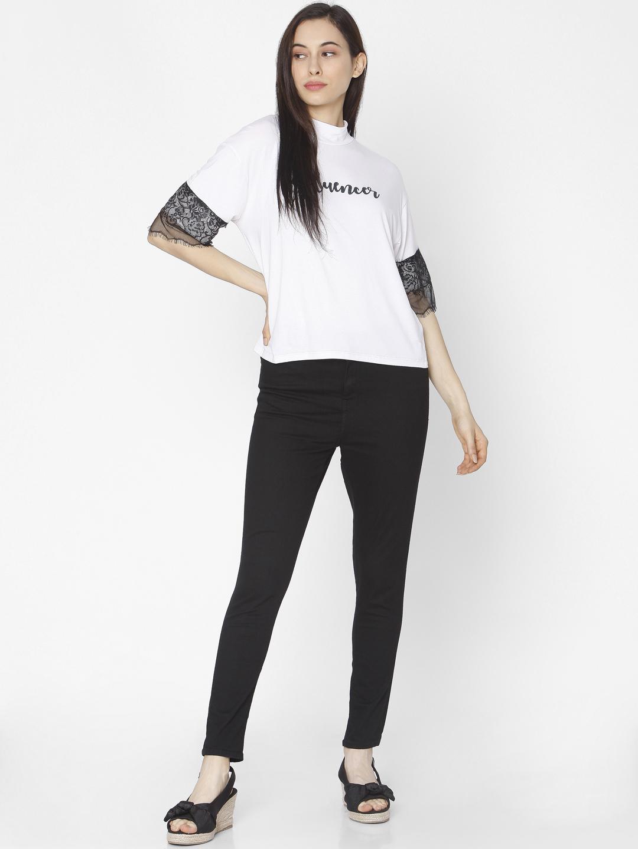 Spykar | Spykar White Cotton Women T-shirt