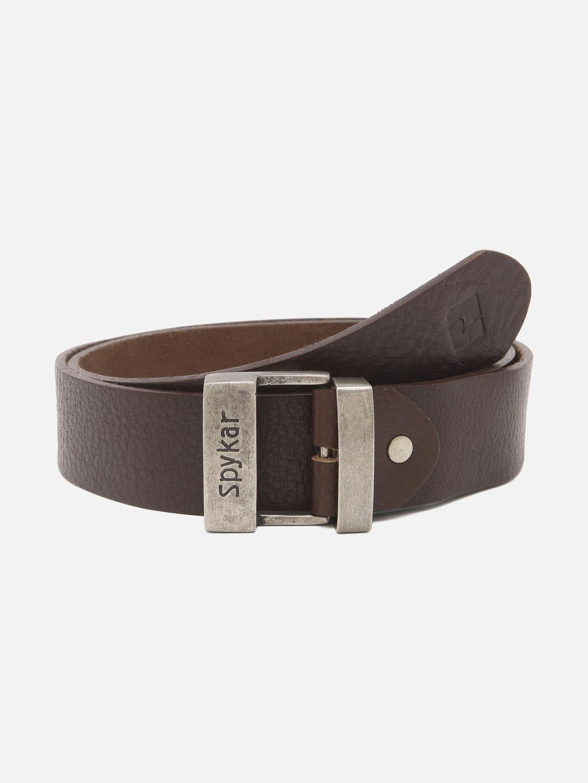 Spykar | Spykar Brown Leather Belt