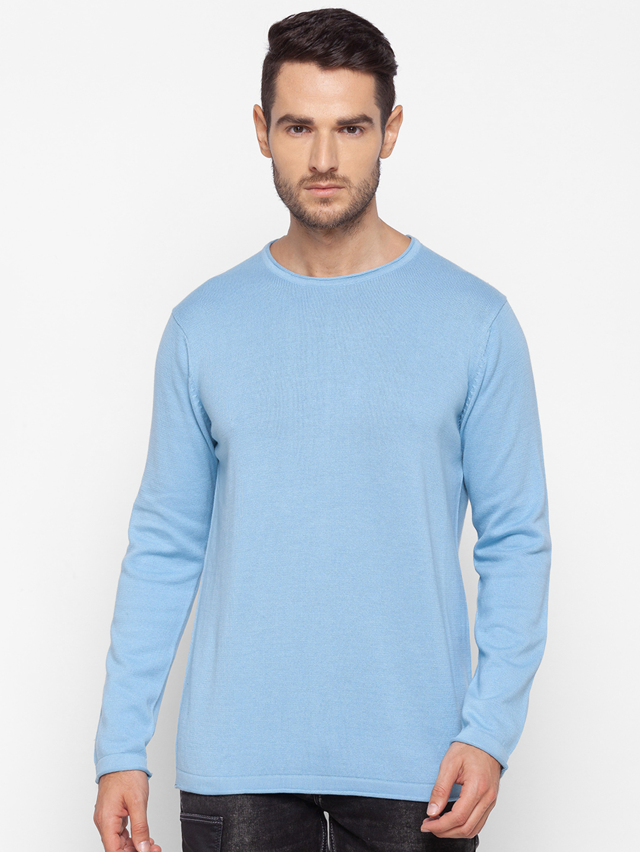 Spykar | Spykar Blue Cotton Men Sweater