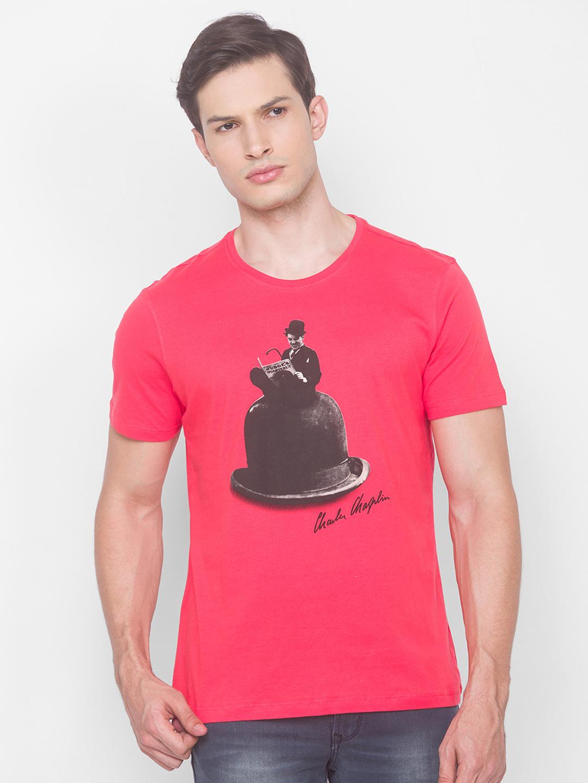 Spykar   Spykar Blue Cotton Men T-shirt