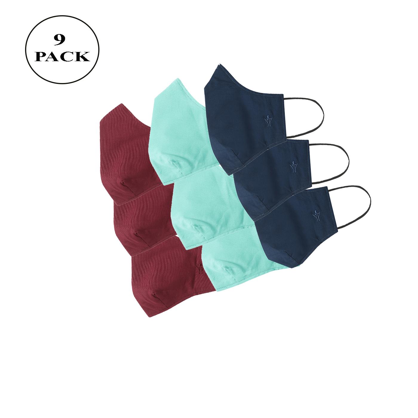 Ramraj Cotton | Ramraj Cotton Woven 3 Layer Colour Face Mask