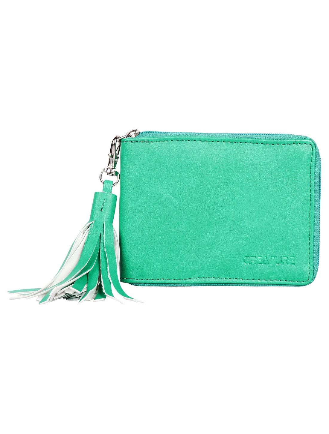 CREATURE   Creature Green PU Leather Zipper Wallet for Women