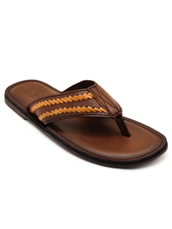 Trends & Trades | Mens BrownThong Sandals