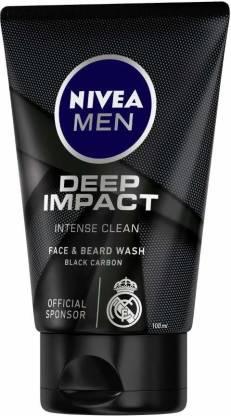 Nivea | NIVEA Men Deep Impact Face And Beard Wash For Men, Face Wash  (100 g)