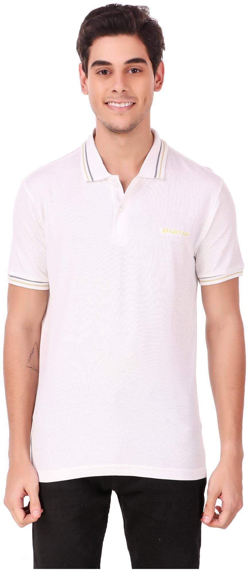 Lotto | Lotto Men's L73 Polo PQ Wht/Gry Dkm T-Shirt