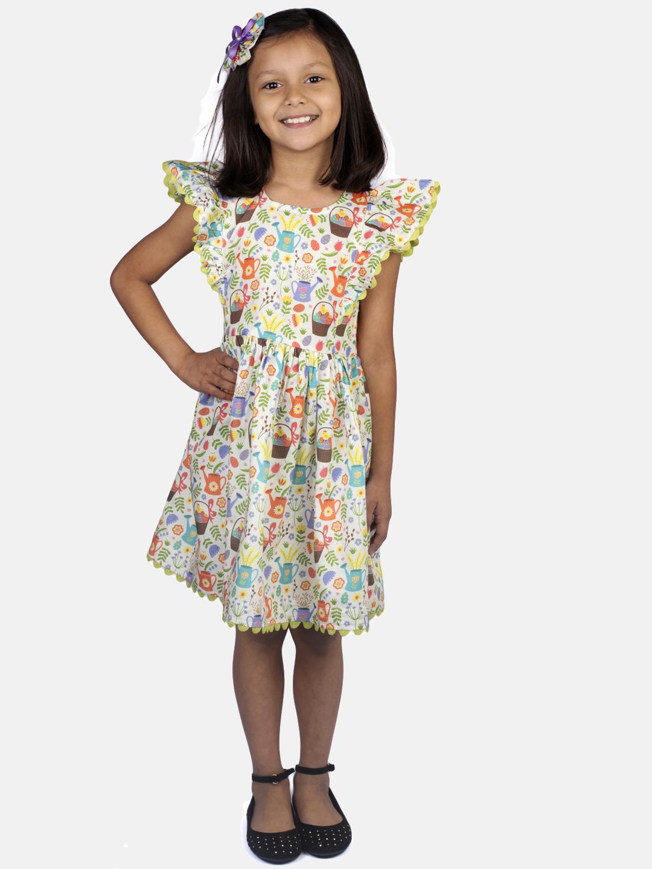 Ribbon Candy | RIBBON CANDY Girl's Garden print dress Fit & Flair