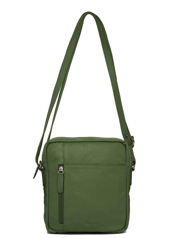 WildHorn   WildHorn Upper Grain Genuine Leather Ladies Sling, Cross-body, Hand Bag with Adjustable Strap - Green