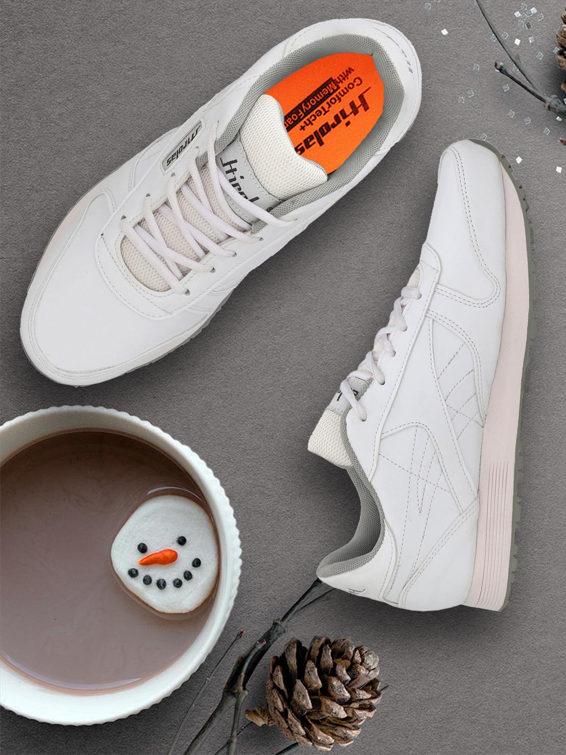 Hirolas | Hirolas Multi Sport Shock Absorbing Walking  Running Fitness Athletic Training Gym Sneaker Shoes - White/Grey