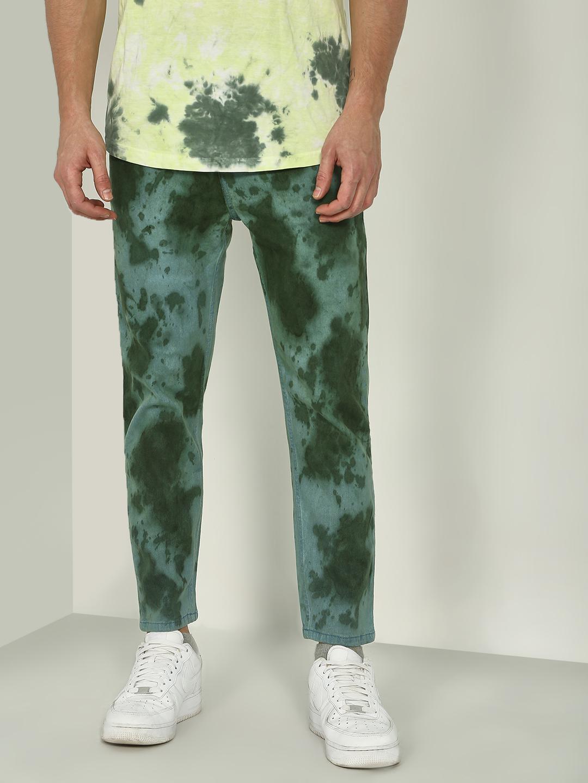 Blue Saint | Blue Saint Men's Olive Loose Fit Jeans