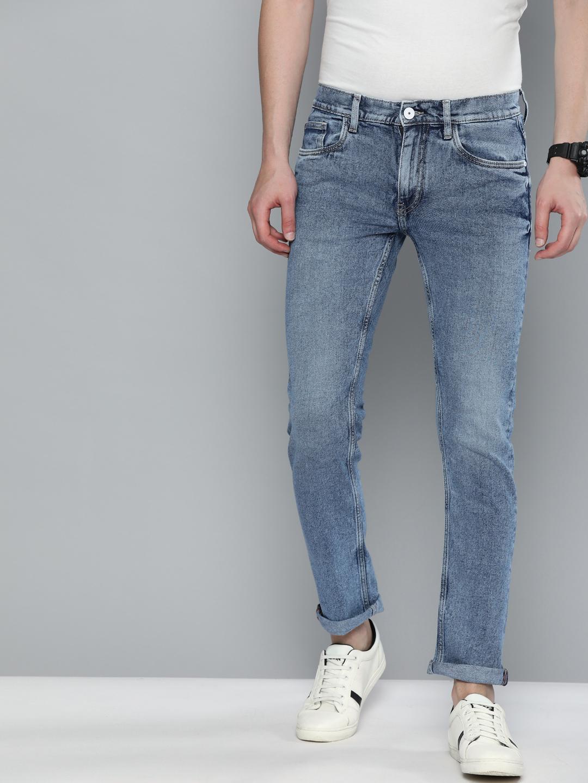 American Bull | American Bull Men Cotton Casual Slim Fit Light Blue Jeans