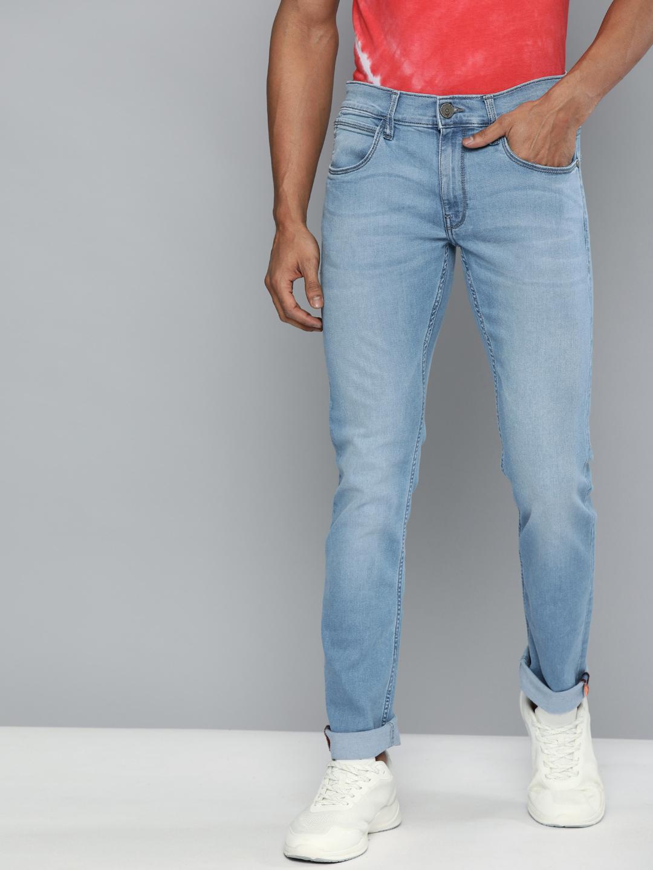 American Bull | American Bull Men Cotton Casual Skinny Fit Blue Jeans