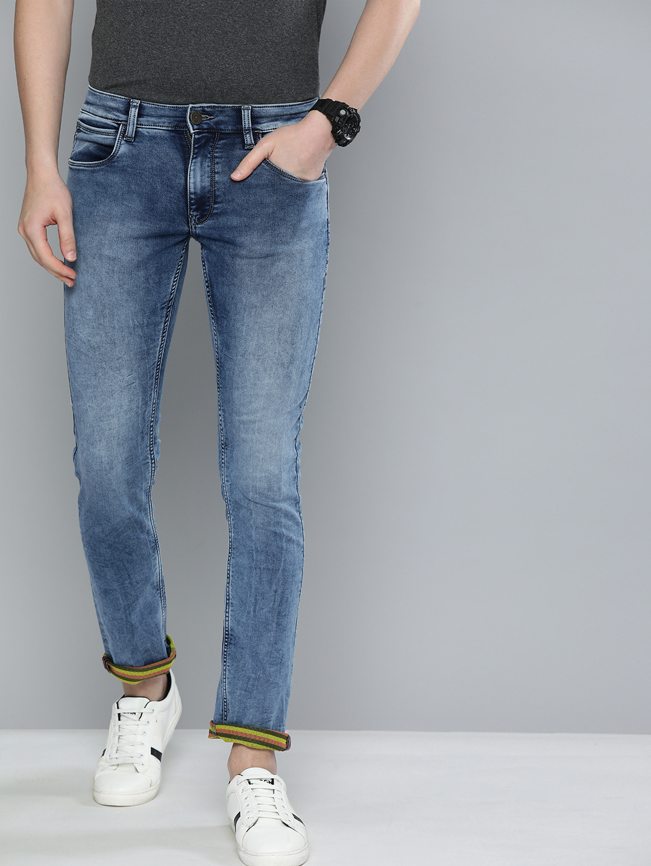 American Bull | American Bull Men Cotton Casual Skinny Fit Light Blue Jeans