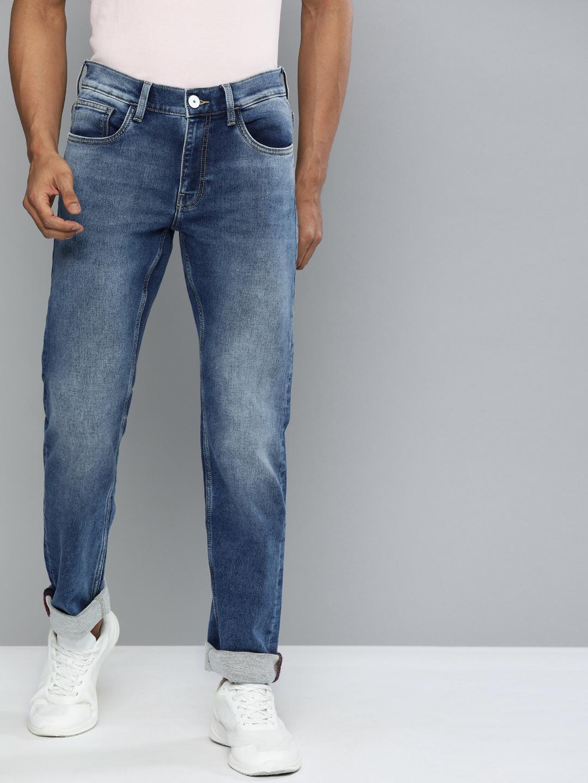 American Bull   American Bull Men Cotton Casual Slim Fit Blue Jeans