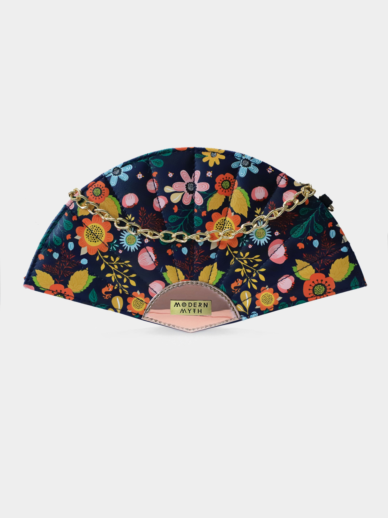 Modern Myth   Floral Paradise Rosegold Print Fan Bag