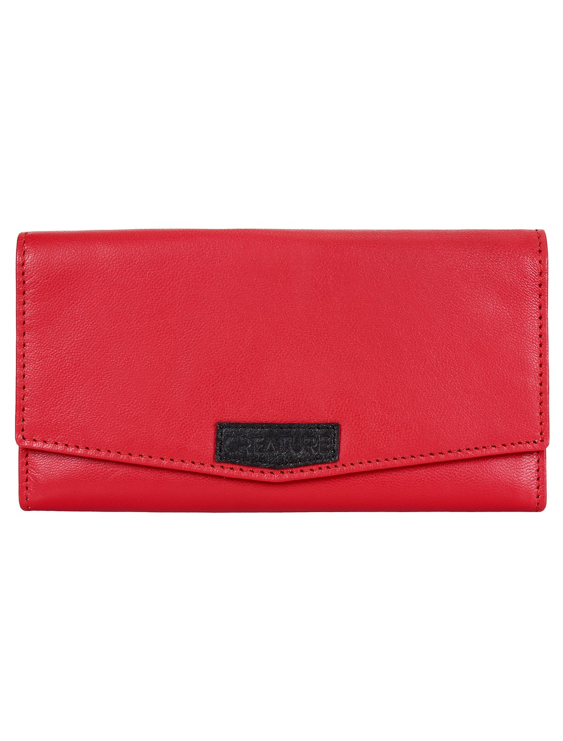 CREATURE | CREATURE Red Stylish Genuine Leather Clutch for Women