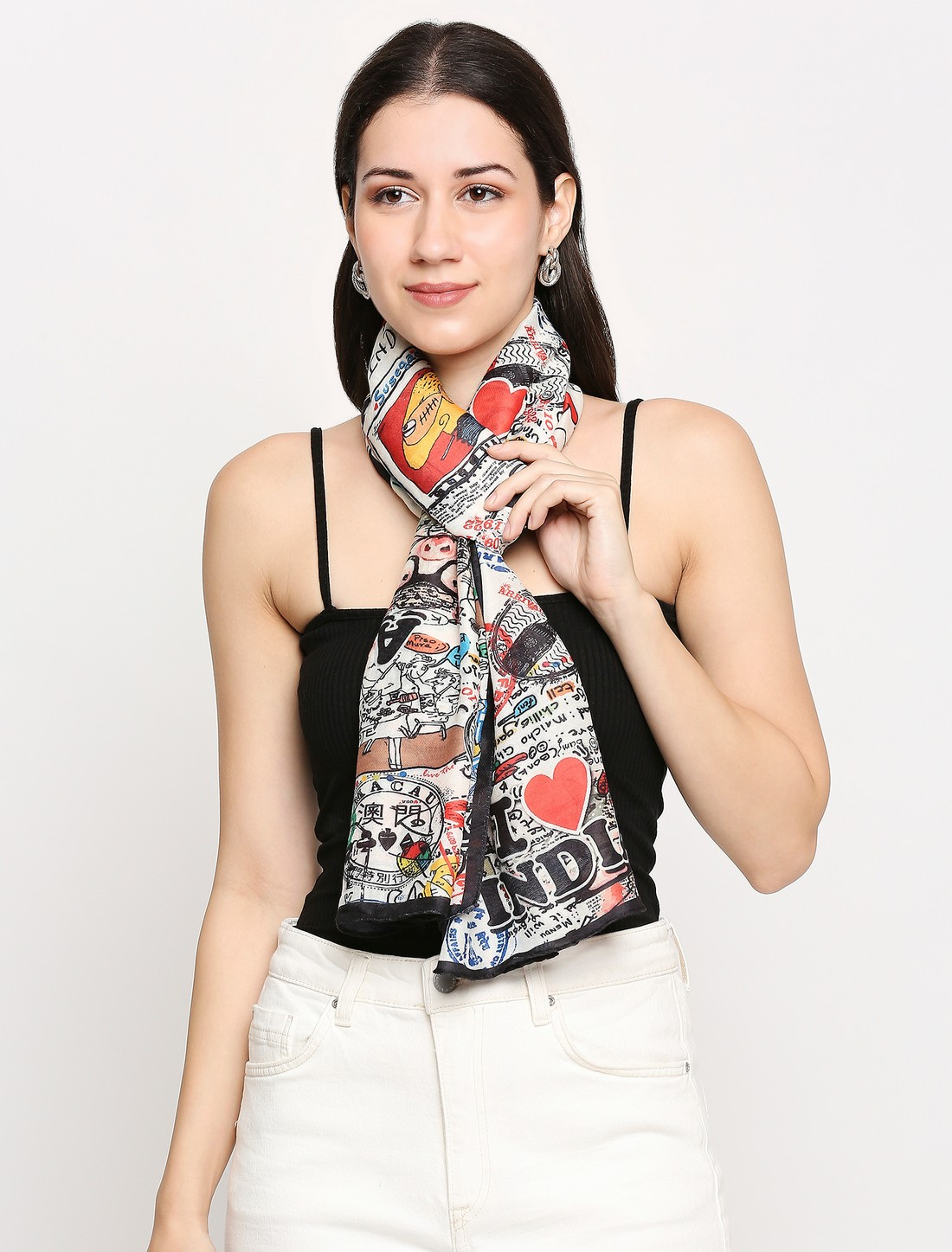 Get Wrapped | Get Wrapped Digital Printed Scarf in Soft Wool Feel Fabric for Women