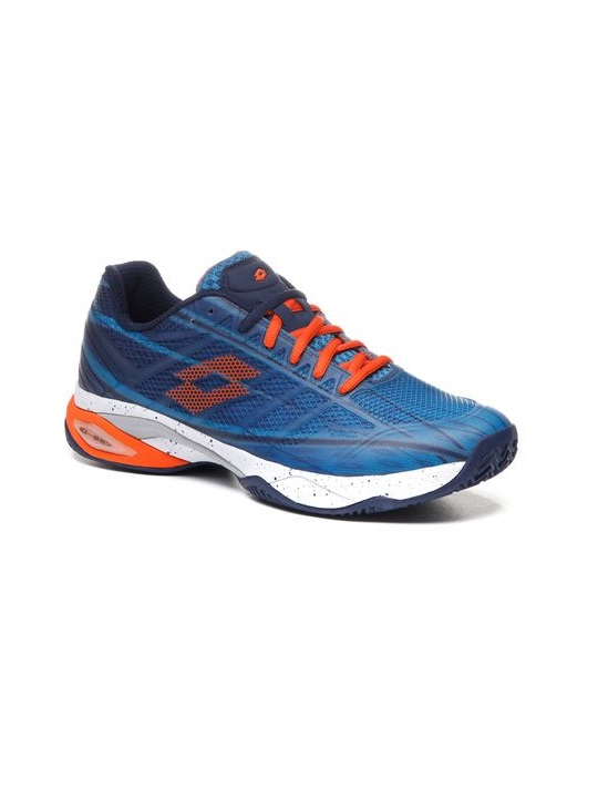 Lotto | Lotto Men's Mirage 300 Cly Mosaic Blue/Red Orange/Navy Blue Tennis Shoes