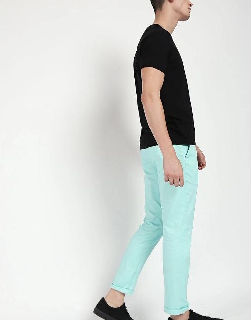 Hemsters | Hemsters Sky Blue Slim Fit Chinos For Men