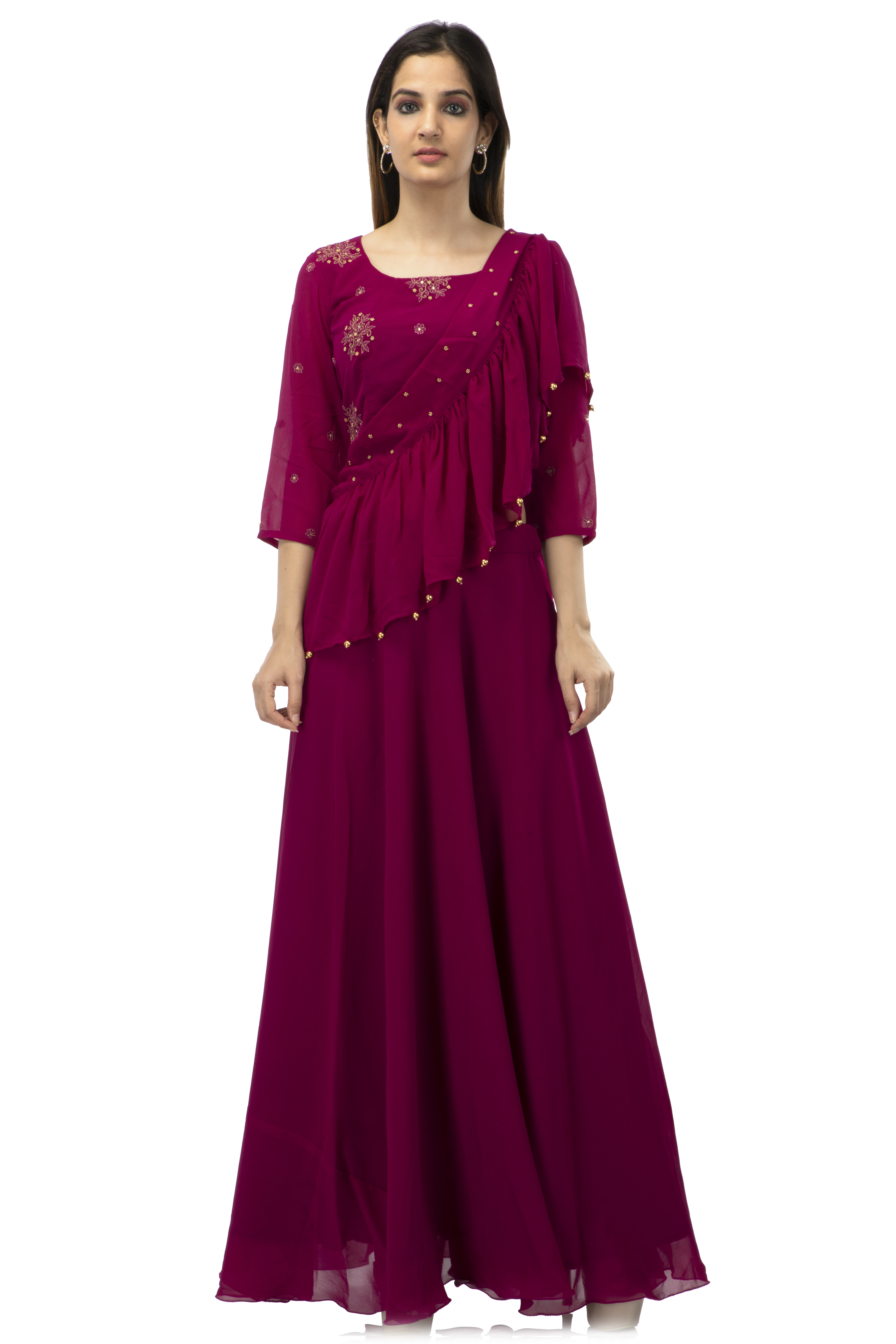 becoming | Sari skirt with ruffle detailing
