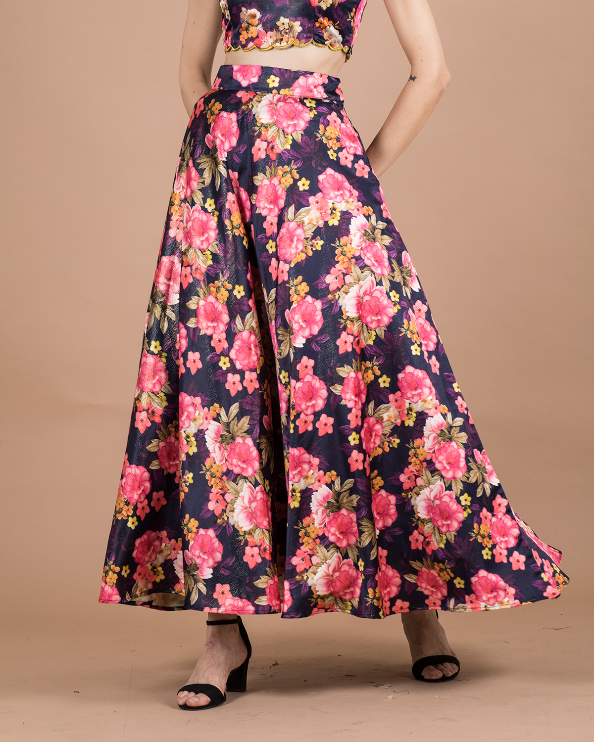 becoming | BECOMING WOMENS FLORAL PRINTED FLARED SKIRT