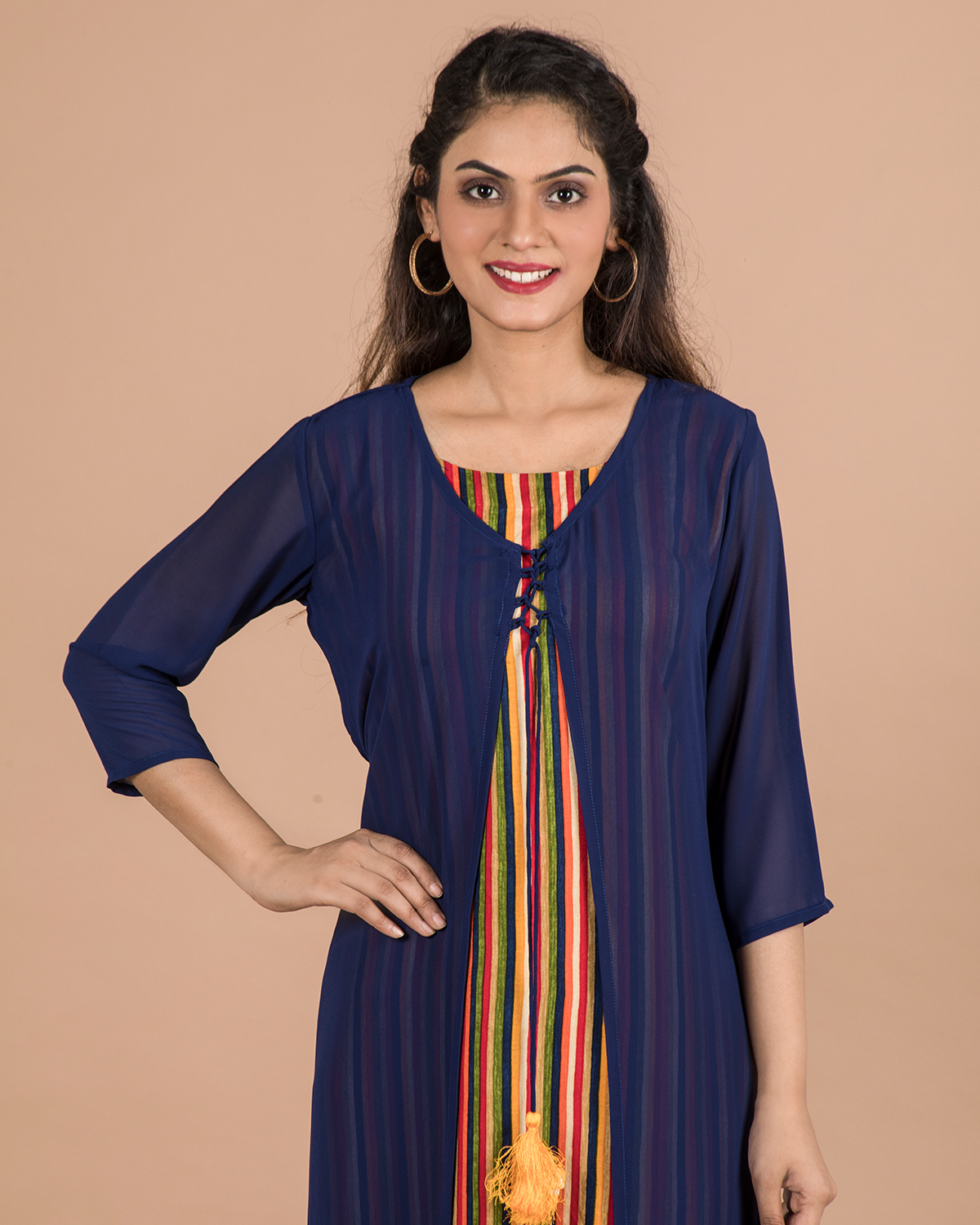 becoming | BECOMING WOMENS DOUBLE LAYERED TWO PIECE KURTI