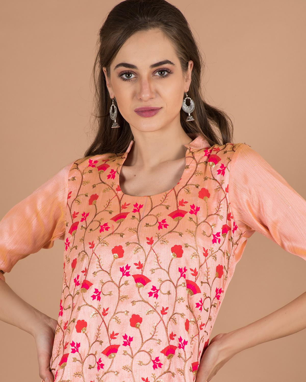 becoming   BECOMING Womens Embroidered collar kurta