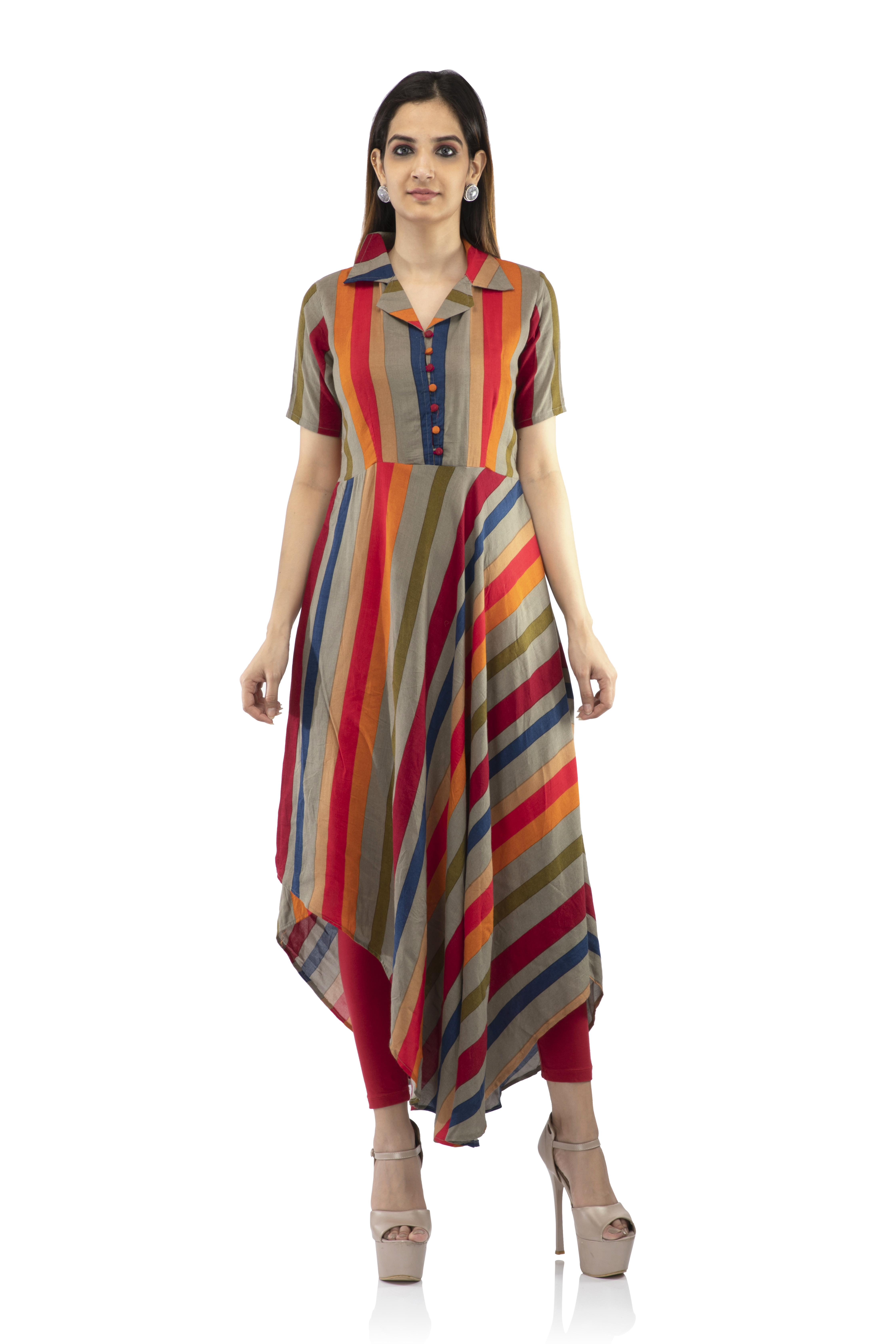 becoming | High and Low Flared kurti