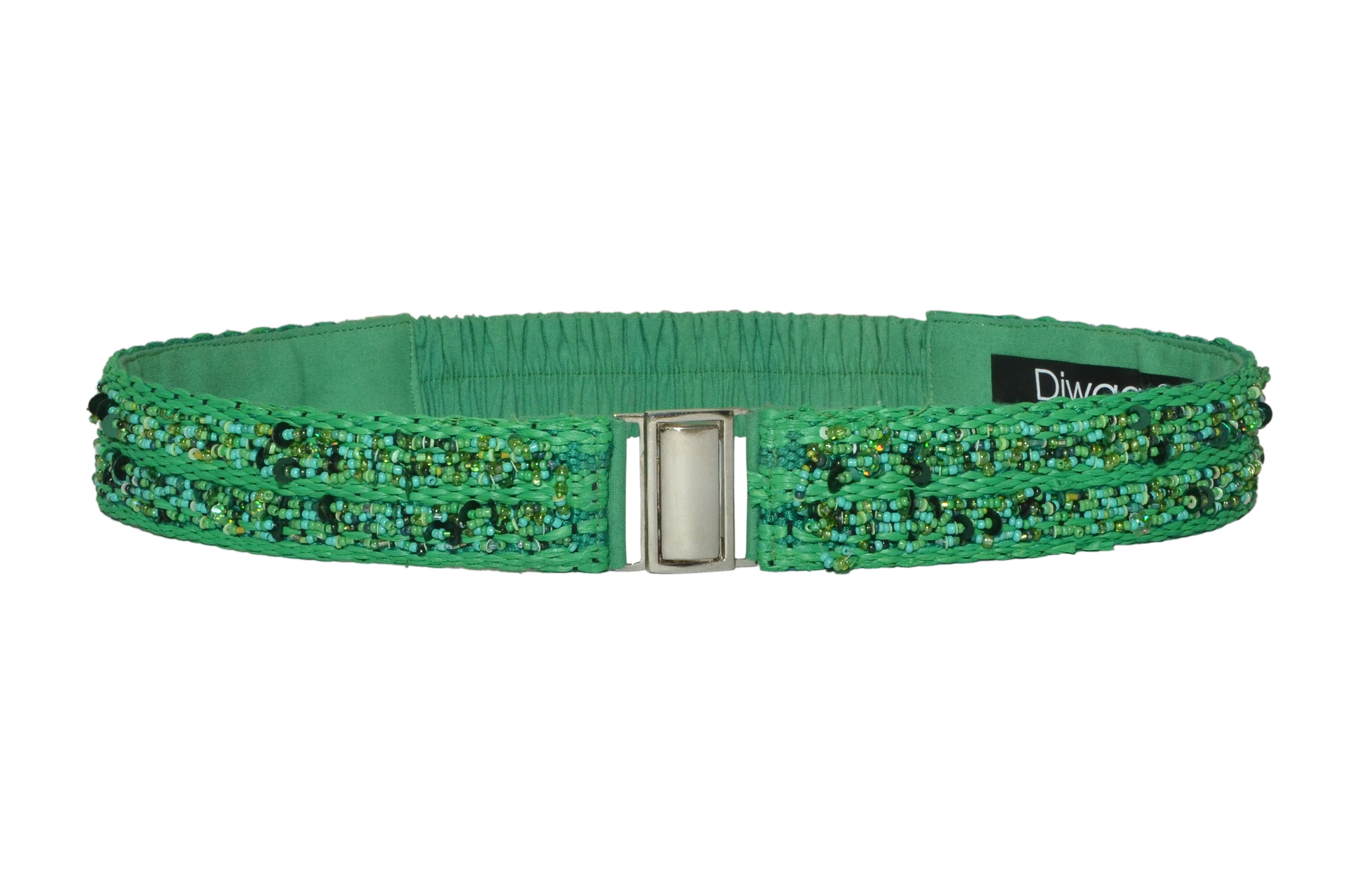 DIWAAH | Diwaah Green Color Casual Embellished Belt