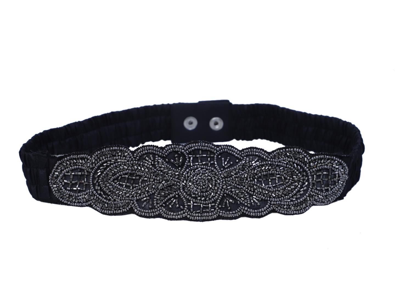 DIWAAH   Diwaah Black Color Casual Embellished Belt