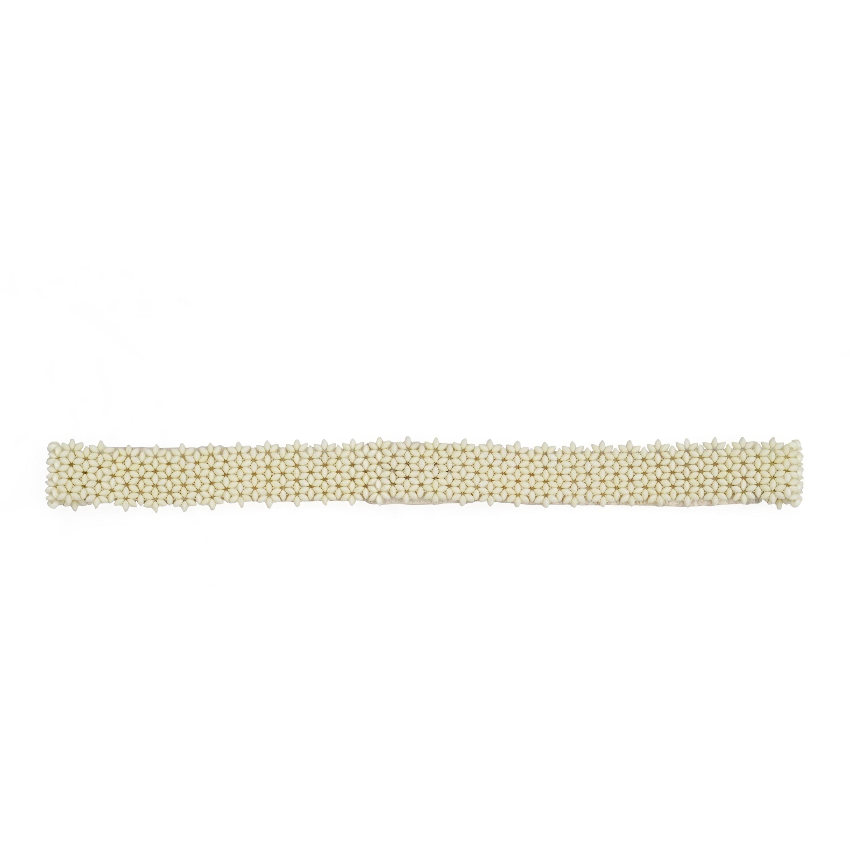 DIWAAH   Diwaah Cream Color Casual Embellished Belt