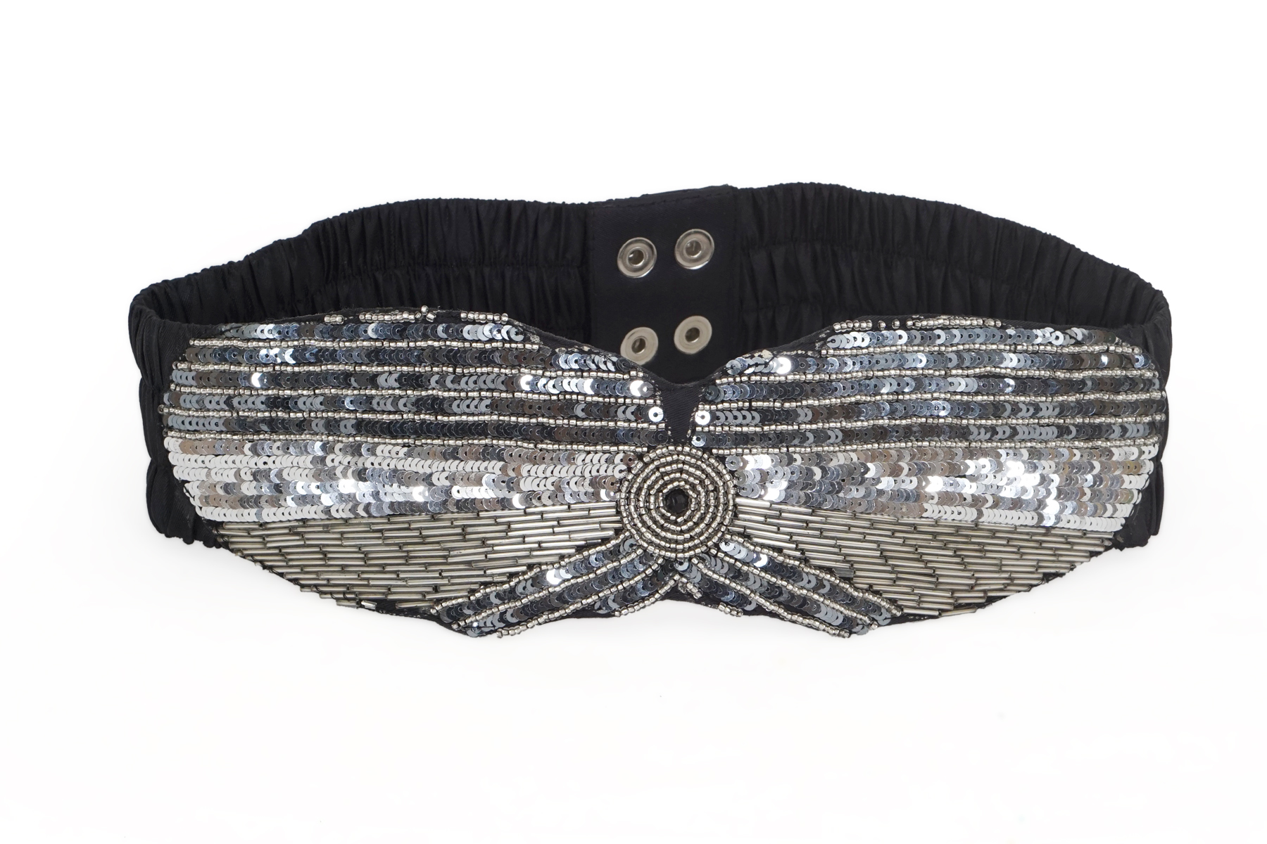 DIWAAH   Diwaah Silver Color Casual Embellished Belt
