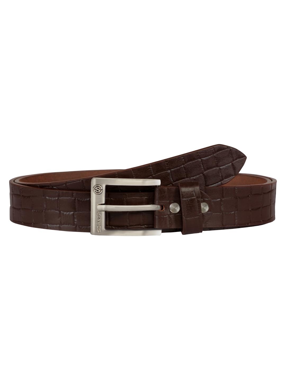 SCHARF | SCHARF Pepe Artur Croco-Brown Leather Belt BMB34