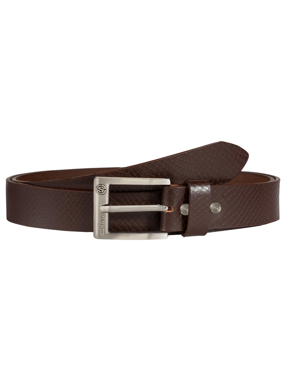 SCHARF | SCHARF Pepe Artur Snake-Brown Leather Belt BMB36