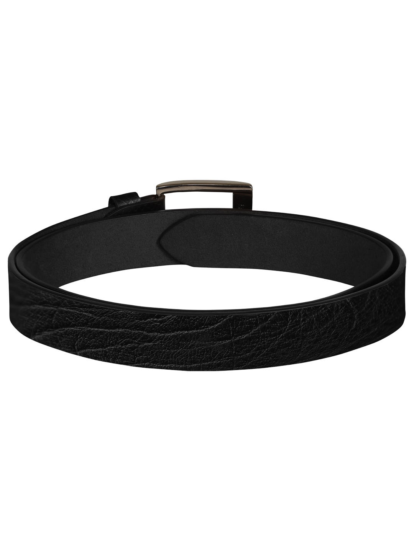 SCHARF | SCHARF Pepe Artur Textured-Black Leather Belt BMB40