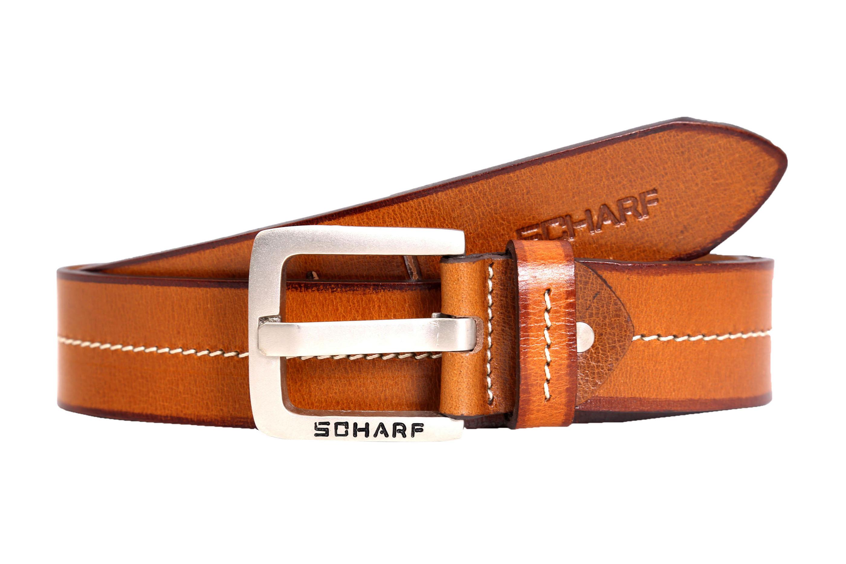SCHARF | SCHARF Men's Henry Ralph White Light Premium Leather Men's Belt BMC44